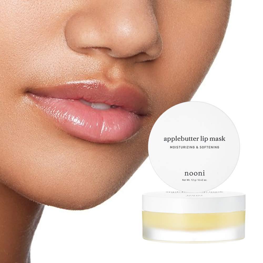 NOONI Applebutter Lip Mask 0.42 Ounces, Moisturzing lip care, Softening formula, Mineral oil free, Day&Night protect lip care, Rich lip balm, Ultra moisture, Peeling lips, Lip primer, Lip scrub