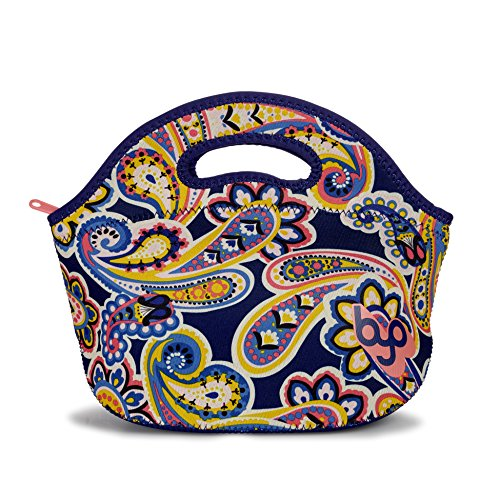 BYO 5211075 Rambler Insulated Neoprene Lunch Bag, Polish Paisley
