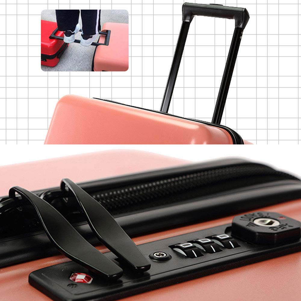 Suitcases Luggage Trolley case Pulley Trolley case Luggage Sets DR Double Track Zipper Travel Code Lock Color : A, Size : 442671cm