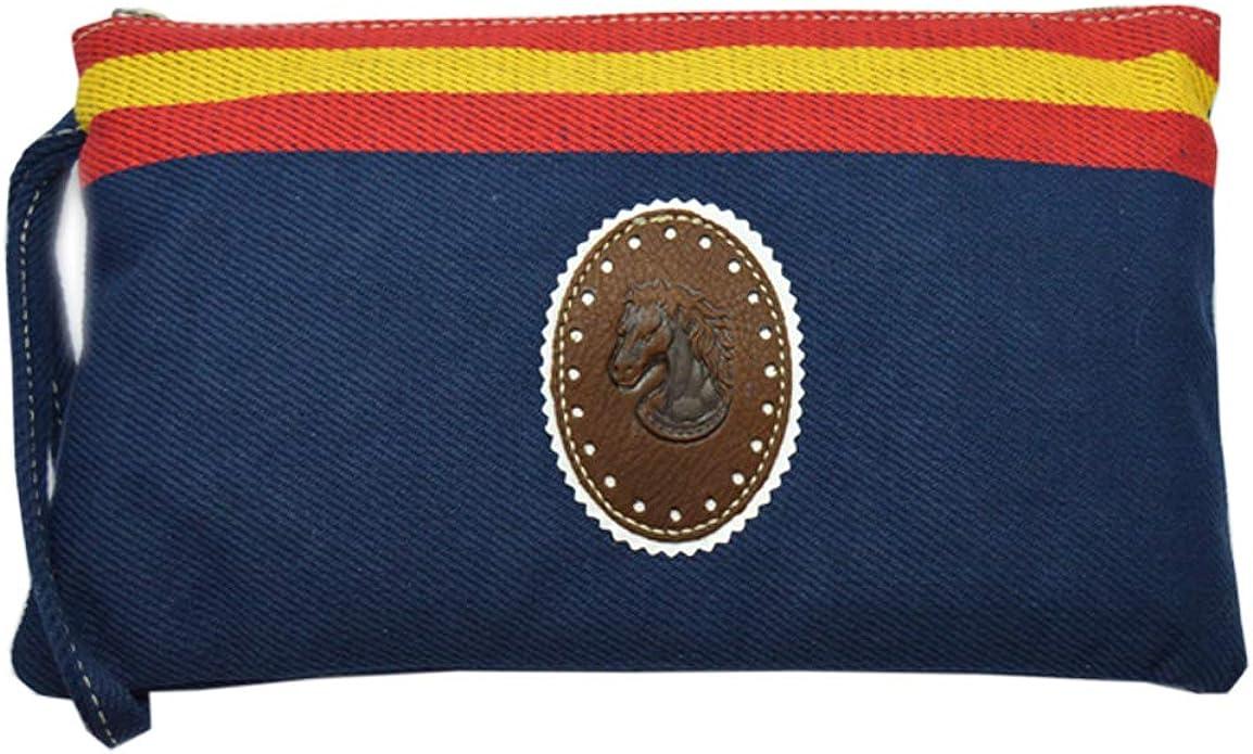 ALBERO Bolso de mano azul marino con Bandera de España. Blue Line 26.50 x 16.50 cm: Amazon.es: Zapatos y complementos