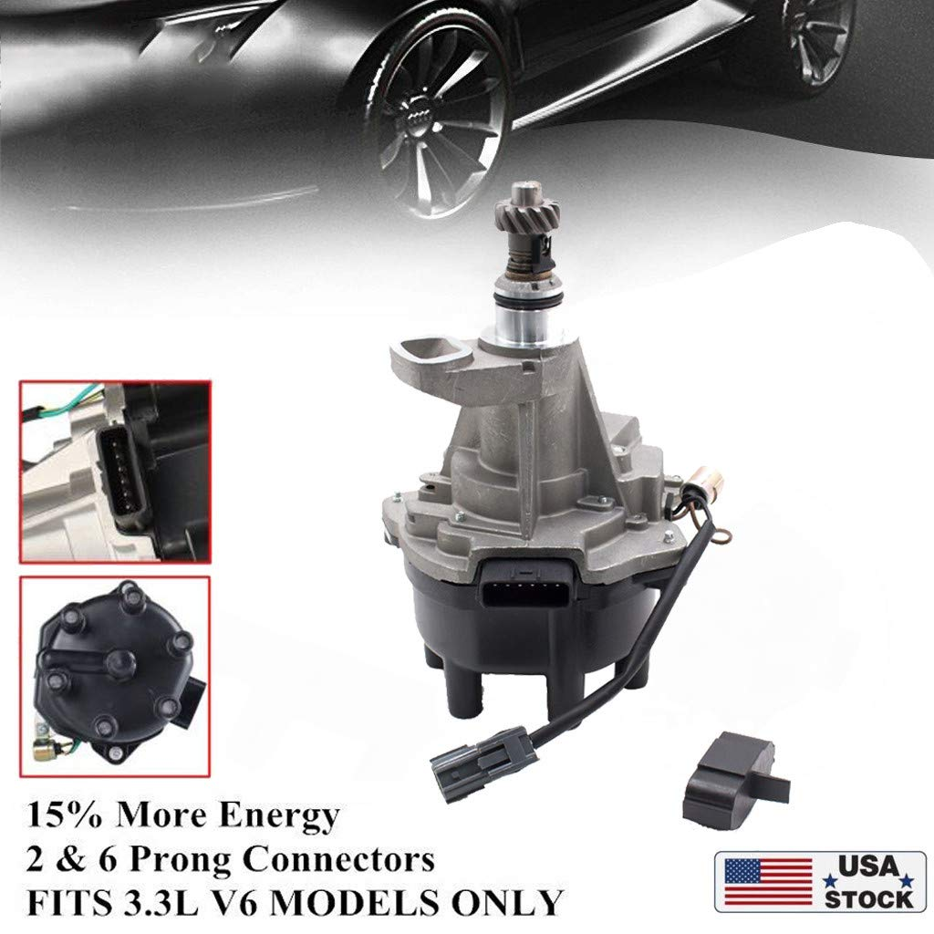As Shown 22100-1W601,Direct Replacement Ready to Install Ljnuanrg Ignition Distributor for 2000-2004 Nissan,Frontier Xterra 3.3L V6 8K RPM fits 221001W601