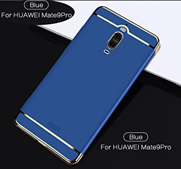 Funda Huawei Mate 9 Pro,2ndSpring Carcasa Huawei Mate 9 Pro Luxury 3 en 1 Desmontable Ultra-Delgado Anti-Arañazos Funda para Huawei Mate 9 Pro Azul