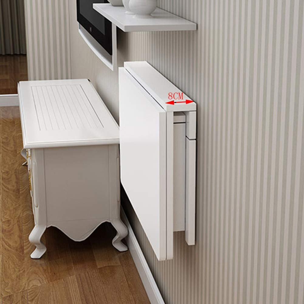 PENGFEI PENGFEI PENGFEI Tisch Wandtisch Wand-Klapptisch Tische Laptop Schreibtisch Mehrzweck Küchenregal Studie Wohnzimmertisch Lager 55kg, 8 Größen (Farbe   Weiß, größe   100x50CM) 487329