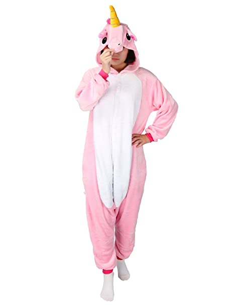 PIN - Disfraz de unicornio para adultos, unisex rosa S(Altura148-