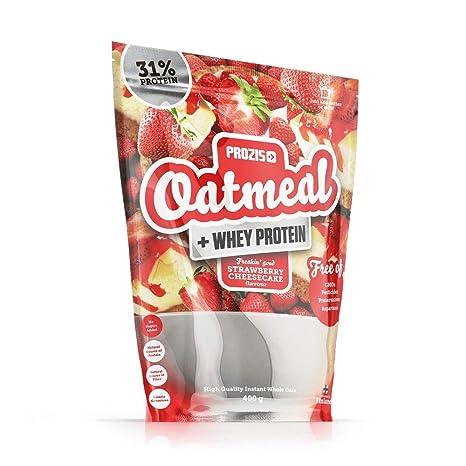 Prozis Oatmeal y Proteína de leche, Tarta de queso con fresas ...