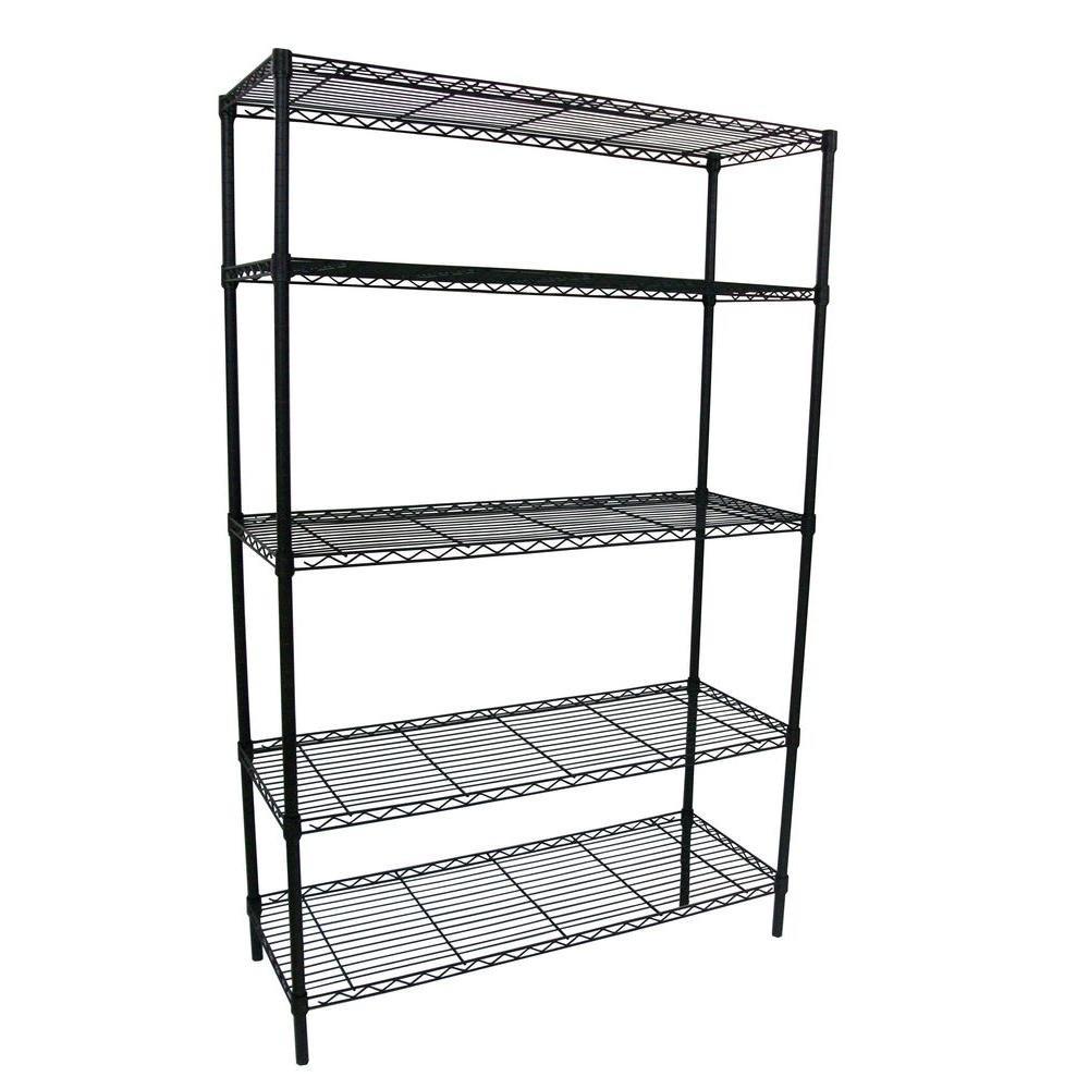 Amazon.com: HDX 5-Shelf 36 in. W x 16 in. L x 72 in. H Storage Unit ...