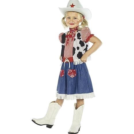 149e659726b04 Traje de vaquera para niña disfraz oeste vestuario cowgirl  Amazon ...