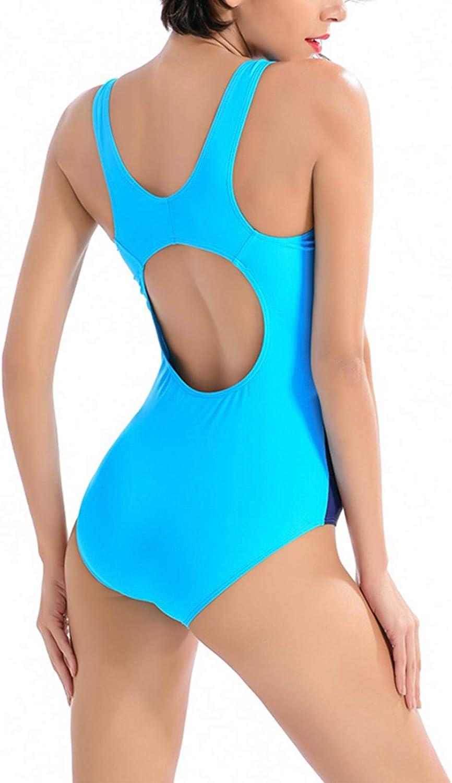 WHCREAT Costumi da Bagno Interi da Donna Monokini Schiena Aperta Stampa Etnica V Profonda Costume da Bagno