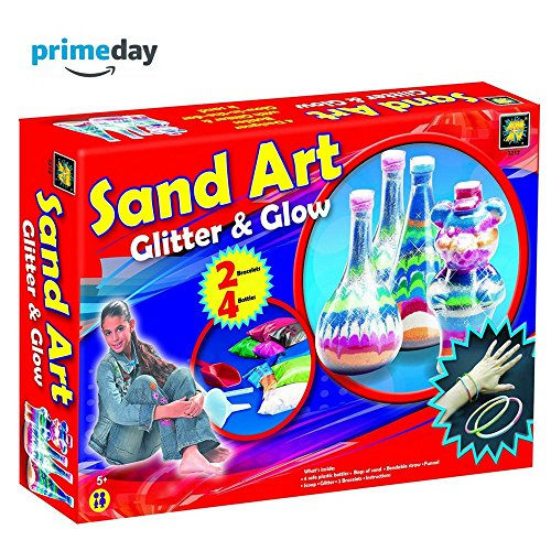 AMAV Sand Art Glitter and Glow Activity Kit - DIY Make Your Own Beautiful Colorful Sand Art in (Sand Gift)