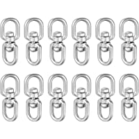 5//16 in Stainless Shackle Connector Bolts Eye to Eye 1 Pcs uxcell M8 Swivel Eye Double Ended Round Rotating Hoist Ring
