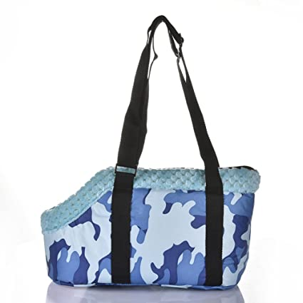 6ed646f271 blingflower Pet Tote Bag Portable Fashionable Camouflage Blue Thermal  Outdoor Travel Pet Crossbody Tote Bag Pet