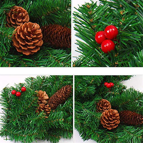 STAR-FIVE-STORE - Luxury Thick Mantel Fireplace Christmas Garland Pine Tree Indoor Christmas Decoration CMS3061 by STAR★FIVE★STORE (Image #4)