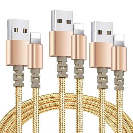 Amazon.com: FEIPUKER - Cargador de teléfono, cable trenzado ...