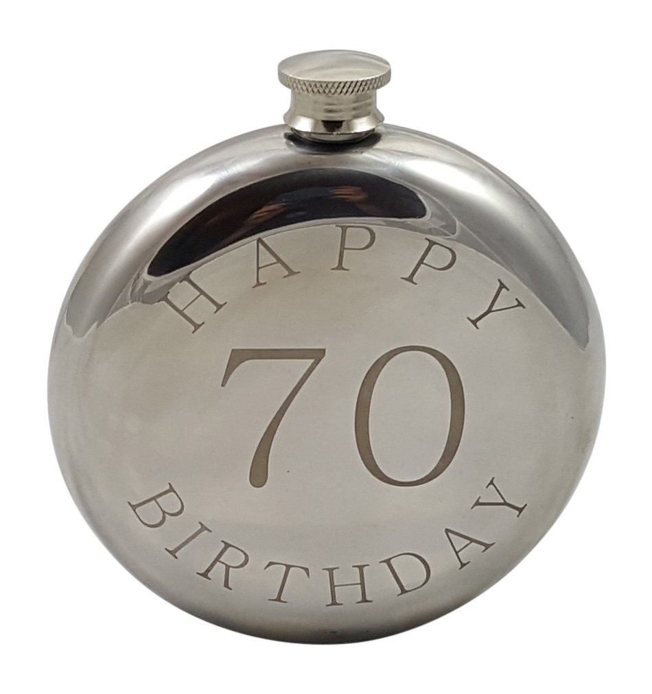 Palm City Products Happy 70th Birthday Flask Gift Set by Palm City Products (Image #3)