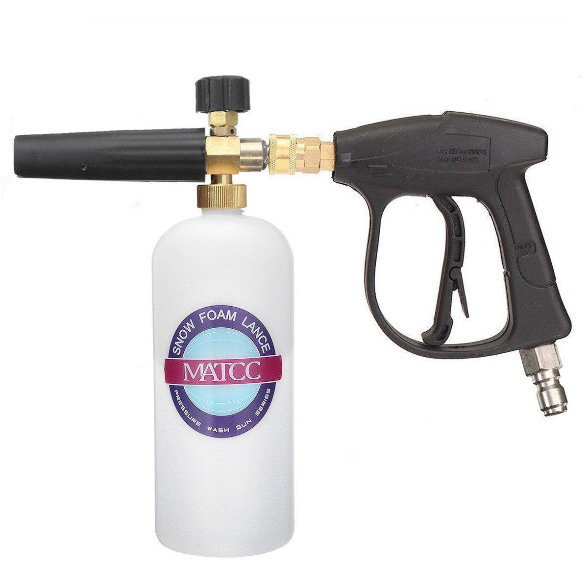 MATCC Foam Wash Gun 3000 PSI High Pressure Washer Jet Snow Foam Lance Foam Cannon Foam Blaster with 3/8'' Connector
