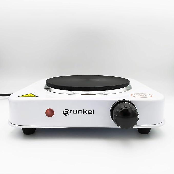 Grunkel EHP-115 Hornillo eléctrico, Acero Inoxidable