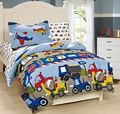 Mk Collection Full Size Trucks Tractors Cars Kids Boys 3