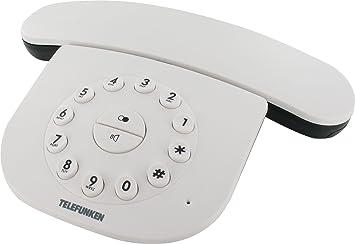 Sagem D142TBLANC - Teléfono fijo inalámbrico de estilo retro, color blanco: Amazon.es: Electrónica