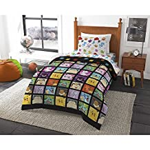 Pokemon Pikachu Grid, Twin Comforter, Pillowcase & Sheets Set