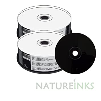 photograph relating to Printable Blank Cds titled 50 Mediarange Black Backside CD-R CD blank disc White