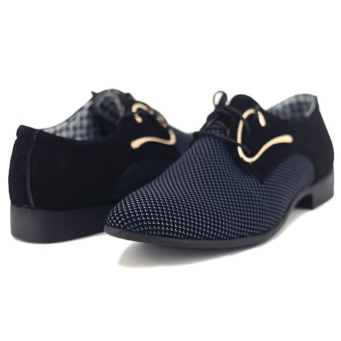 Blivener BlivenerCasual - Zapatos Planos con Cordones Hombre, Color Blanco, Talla 45 EU