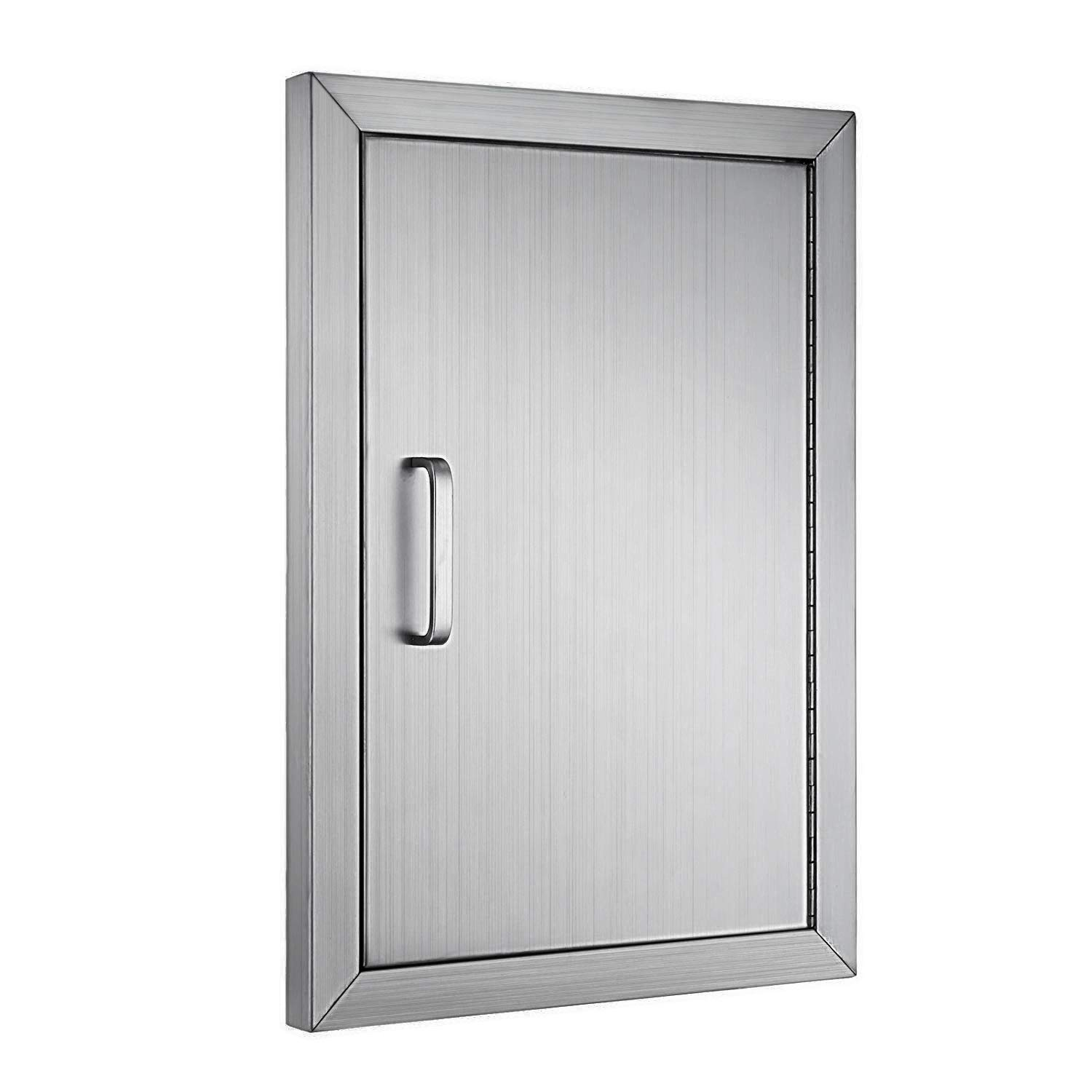 Happybuy BBQ Access Single Door Wall Construction Cutout 14W x 20H Inches Outdoor Kitchen Access Doors 304 Grade Brushed Stainless Steel Heavy Duty by Happybuy