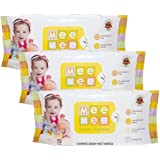 Mee Mee Caring Baby Wet Wipes with Lemon Fragrance - 72  pcs (Pack of 3)