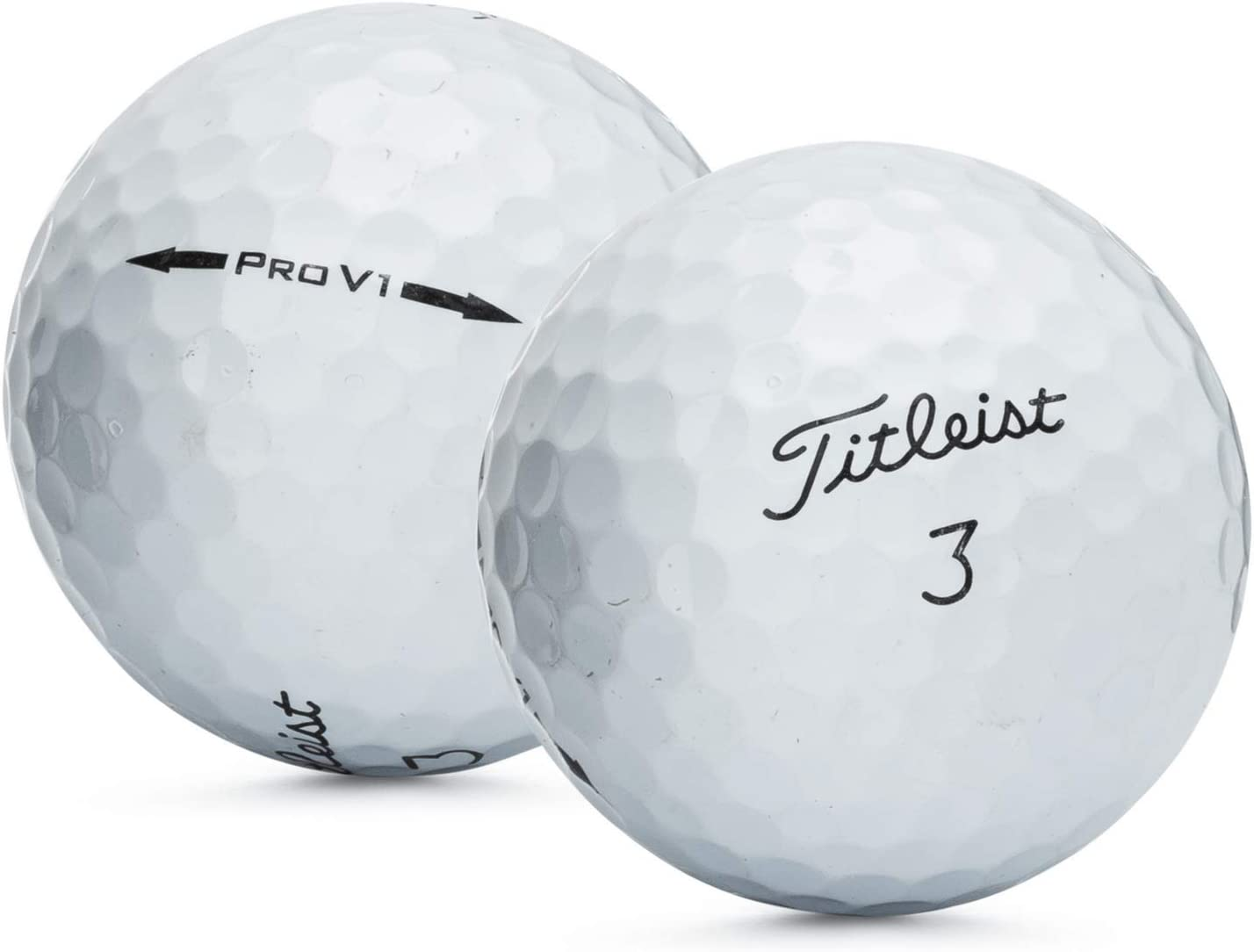 50 Near Mint Titleist Pro V1 AAAA Recycled Used Golf Balls, 50-Pack