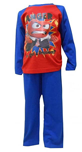 Disney Pixar Inside Out Big Boys Pyjamas 3-4 ...