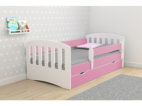 Letto Singolo Per Bambina.Children S Beds Home Letto Singolo Classic 1 Per Bambini Bambini Bambino Junior Con Cassetti Ma Senza Materasso Incluso Rosa 180x80