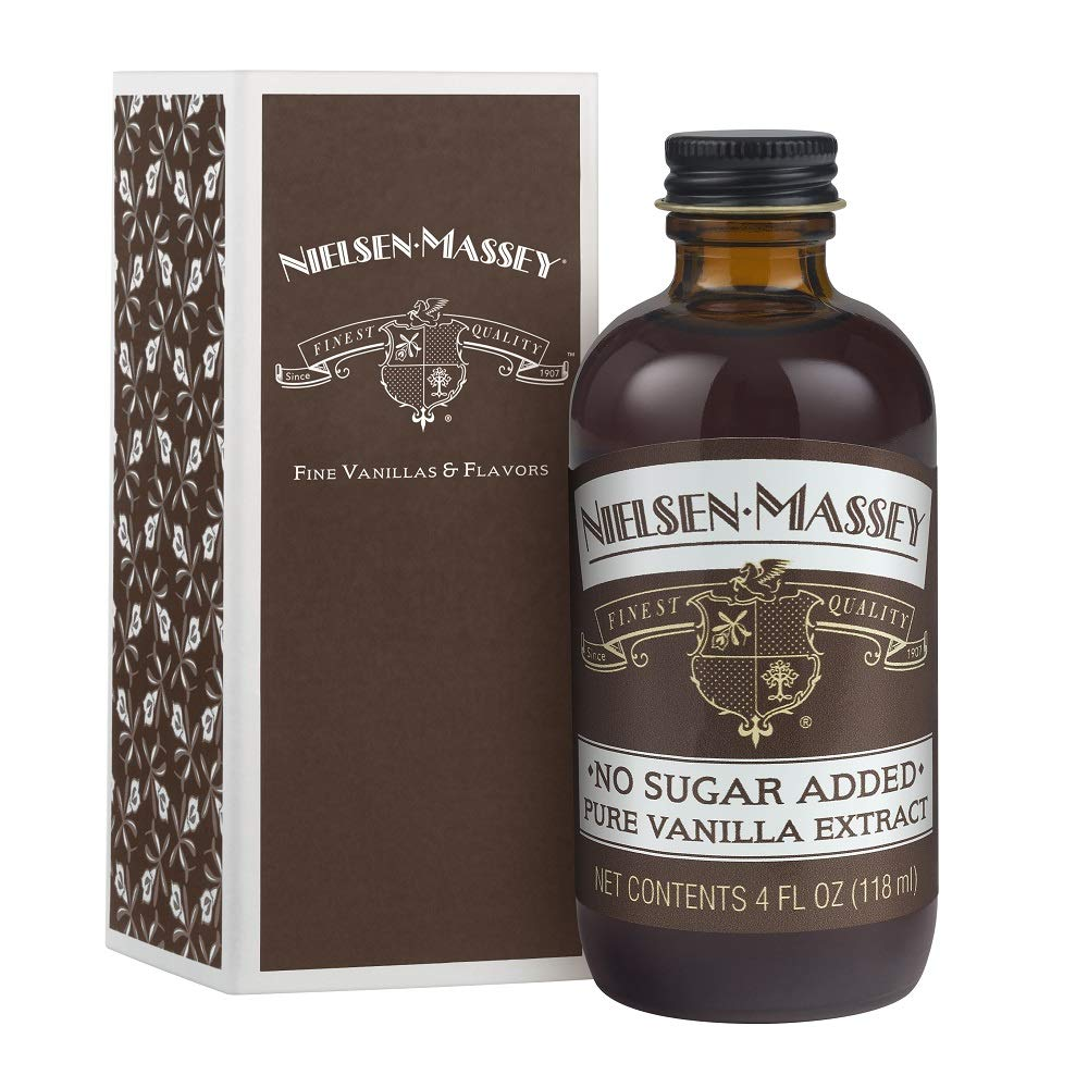 Nielsen-Massey No Sugar Added Pure Vanilla Extract, with Gift Box, 4 ounces
