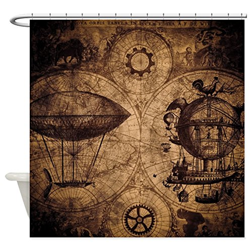 CafePress Shower Curtain - Steampunk Shower Curtain - White