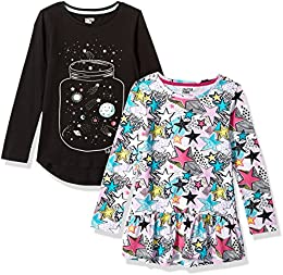 Girls 2-Pack Long-Sleeve Tunic Tops