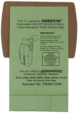 Amazon.com: Oreck PKBB12DW - Bolsas para aspiradora (tamaño ...