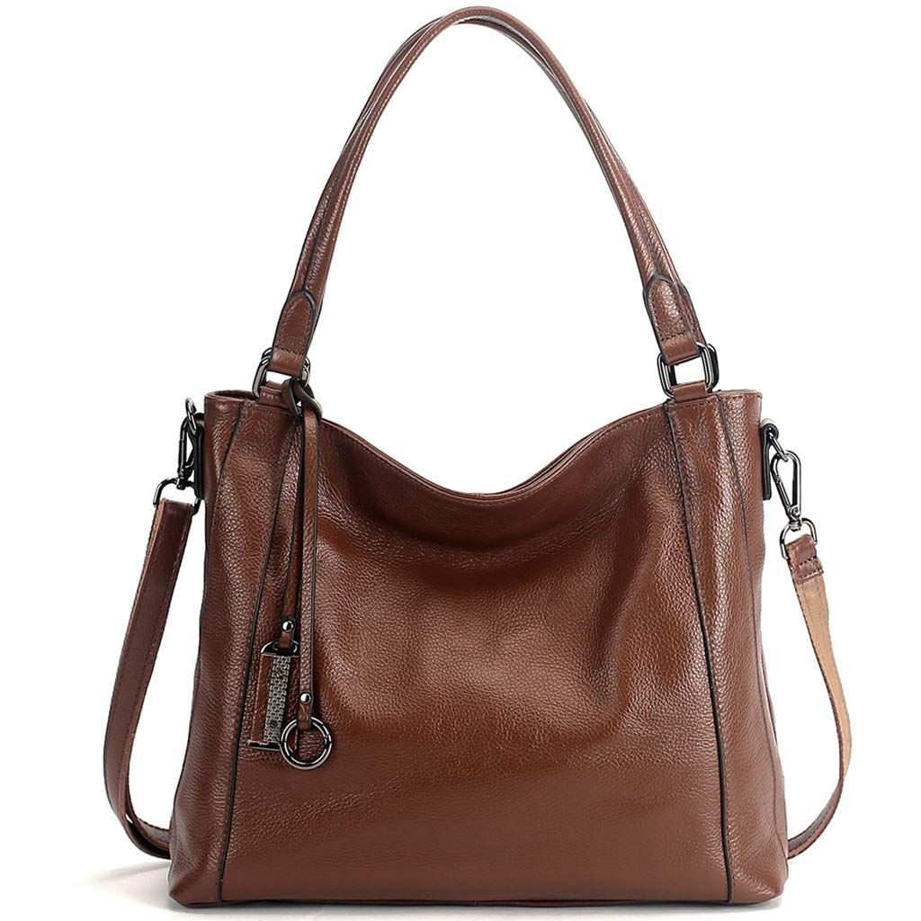 Brown KB Ladies Handbag Genuine Leather Fashion