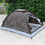Cheap Camping Tent for 2 Person Single Layer Outdoor Camping Portable Festival Camouflage