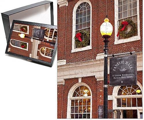 Photo Jigsaw Puzzle of Historic Faneuil Hall at Christmas, Boston Massachusetts, USA (Massachusetts Lights Christmas)