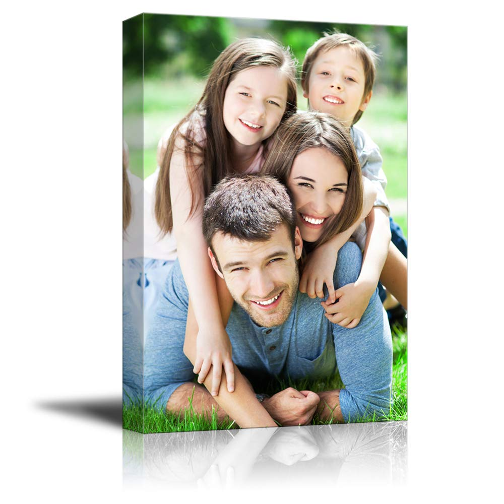 SIGNFORD Personalized Canvas Prints Best Sweet Family Pictures Customize Poster Wall Art with Your Own Pictures Wood Frame Digitally Printed-24x16inches by SIGNFORD