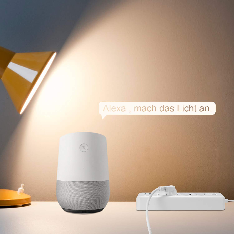 WiFi Steckdose Kompatibel mit Alexa Echo und Echo Dot und Google home Smartphone App Steuerung f/ür IOS und Android f/ür Haus und B/üro Fernbedienungsschalter 4