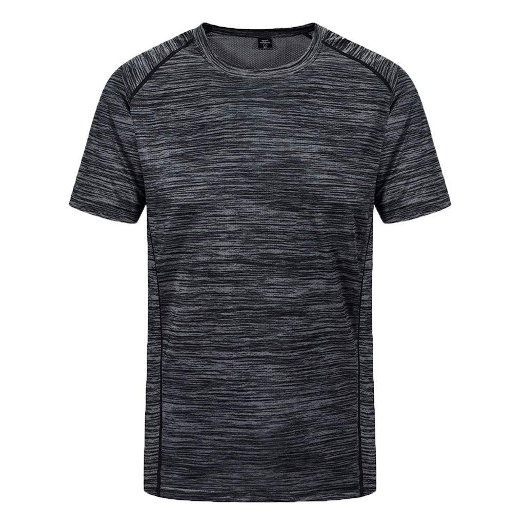 Shirt Herren Bluelucon Sport T Shirt Fitness Funktion Training Running Tennis Sportshirt M/änner Funktionsshirt Kurzarm Trainingsshirt Laufshirt