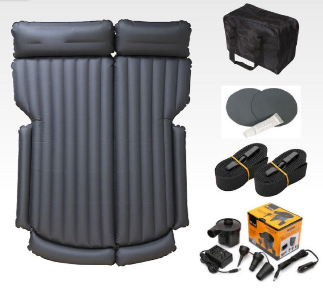 ERHANG Luftmatratzen Rear Seat Portable SUV Auto Bett Aufblasbare Bett Erwachsene Schlafmatte,grauB