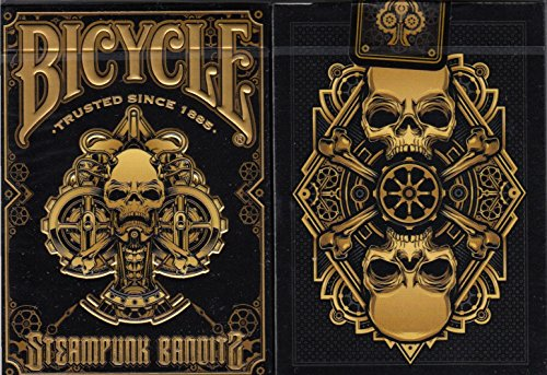 Steampunk Bandits 2 Deck Set Bicycle Playing Cards Poker Size Deck USPCC Limited 4