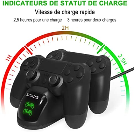 Ps4 Controller Ladestation Charger, Ziumier Dualshock 4