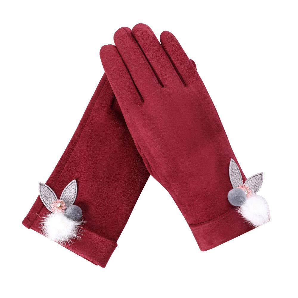 [Cadeaux De NoëL] Gants Longs Femme Fluffy Chic Pour SoiréE Longue Complet-Doigt Gants Gants Hiver- One Size Taille : About 23 X16 Cm