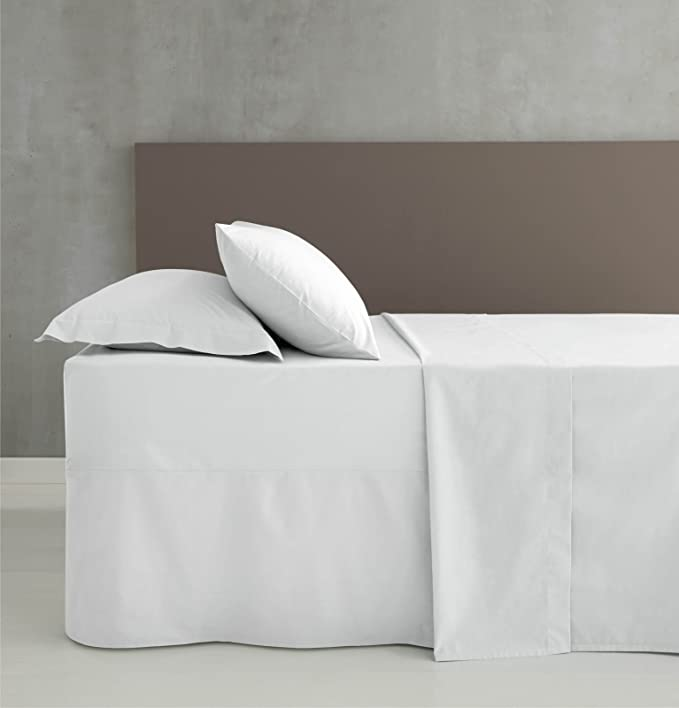 Catherine Lansfield Hometexstyle - Sábana bajera ajustable, color blanco: Amazon.es: Hogar