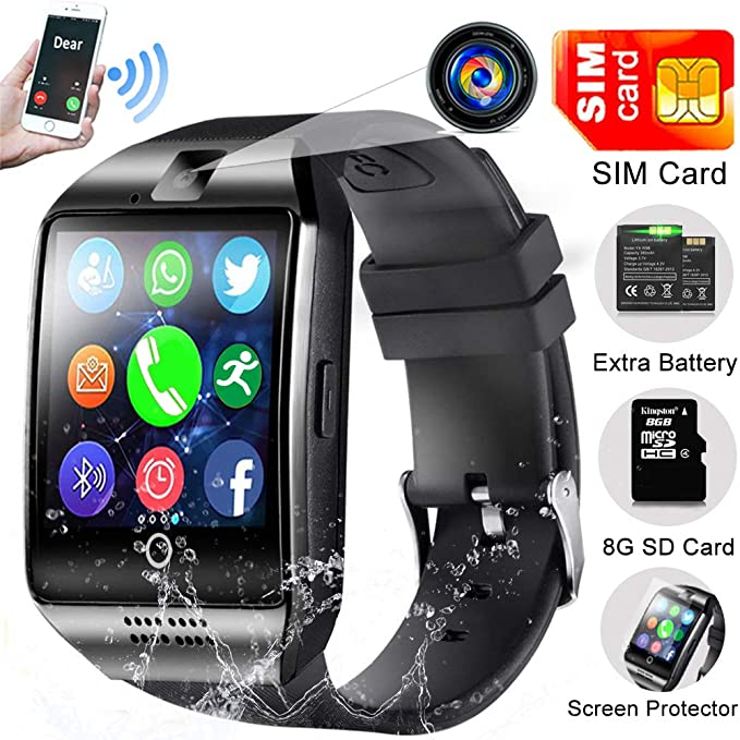 Smart Watch Phone with SIM Card,Outdoor Sport Smartwatch with Camera for Android iOS Women Men Touchscreen Wrist Fit Pedometer Fitness Tracker Watch ...