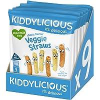 Kiddylicious Cheesy straws, 108g (Pack of 9)