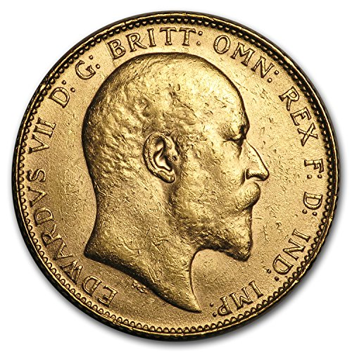 1902 UK - 1910 Great Britain Gold Sovereign Edward VII BU Gold Brilliant Uncirculated