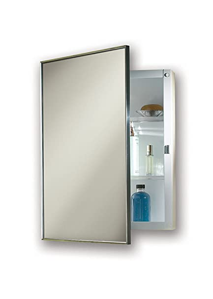 Ordinaire Jensen 422SMX Stainless Steel Frame Medicine Cabinet, 14u0026quot; ...