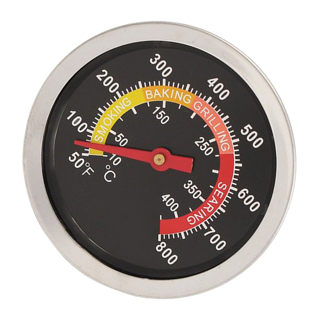 D DOLITY BBQ Barbecue Smoker Grill Thermometer Temperature Gauge (50 to 800 Degrees Fahrenheit)